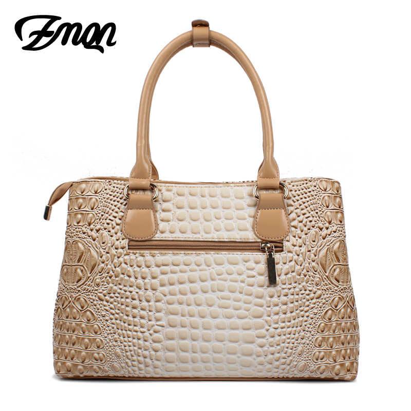 8bb1ff5a5426 ... ZMQN роскошные сумки женские сумки дизайнерские сумки для женщин 2018  модные крокодиловые кожаные сумки-тоут ...