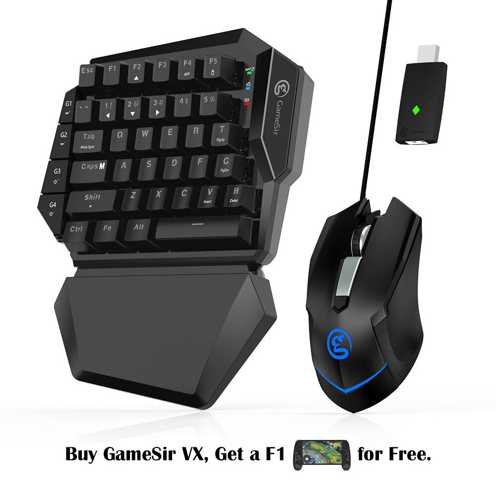 GameSir VX AimSwitch con tastiera e mouse Adattatore, F tutte le console di gioco FPS Giochi (Per PS4/PS3/Xbox One/Switch/PC) del Controller