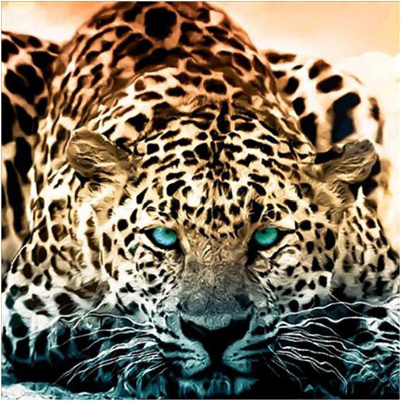 DIY Diamond painting cross stitch Painting Crafts Embroidery 5D Mosaic Decoration Gifts Leopard