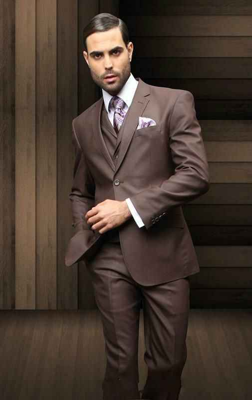 b2f52bd9a75 New arrival Tailored Groom Tuxedos Chocolate brown Fashion Slim Fit Tuxedo  Style Formal Casual Men s Suit