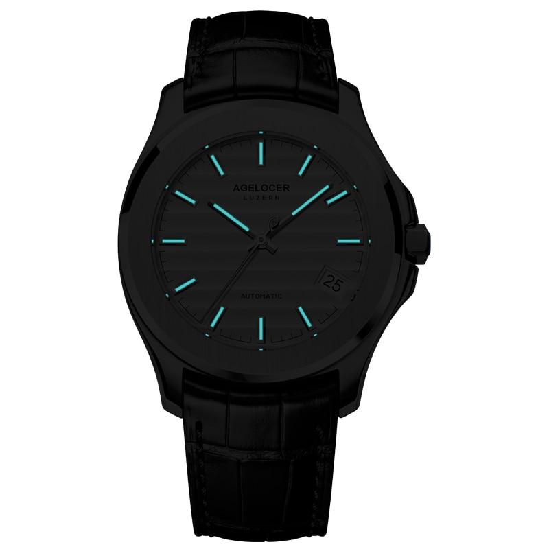 Montres pour hommes mécaniques de luxe de marque suisse Date 50 m étanche Auto réserve de marche horloge hommes hommes montre-bracelet relogio masculino - 6