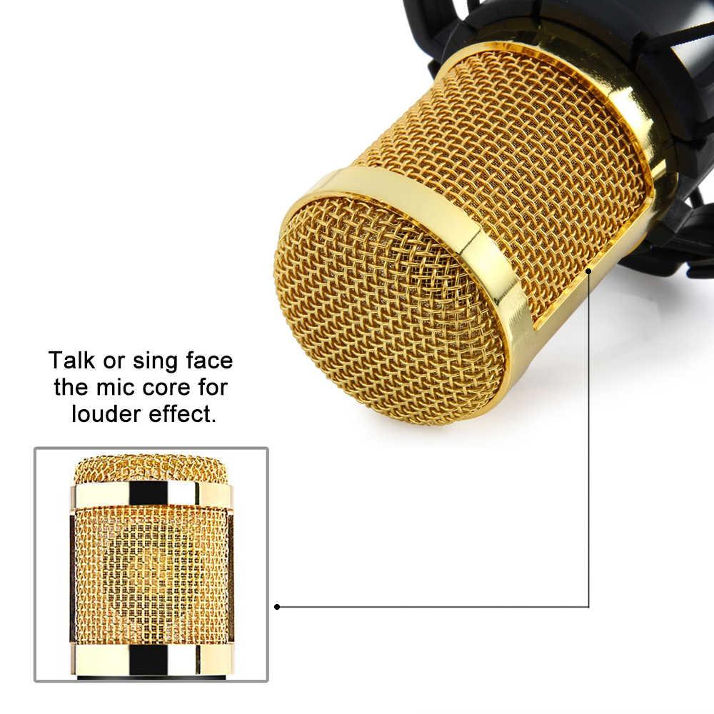 GEVO BM 800 конденсаторный микрофон для компьютера Проводная 3,5 мм XLR кабель с ударным креплением профессиональный студийный микрафон для караоки для пк для фантомное питание BM800 Mic