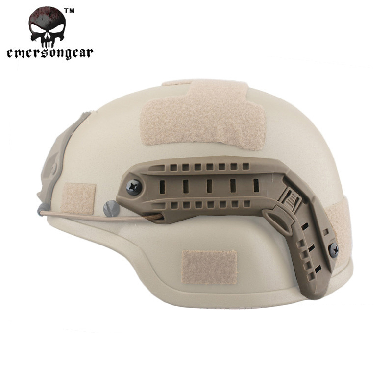 Emerson Tactical ACH MICH 2000 TC-2000 Helmet Advanced w// NVG Shroud /& Side Rail