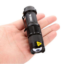 3500LM Hot high-quality Mini Black Waterproof LED 14500/AA Flashlight 3 Modes Zoomable LED Torch penlight