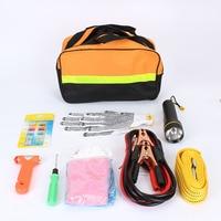 Car Emergency Kits 9 PCS Auto Roadside Emergency Tool Supplies Kit Bag Flashlight Car Breakdown Safety