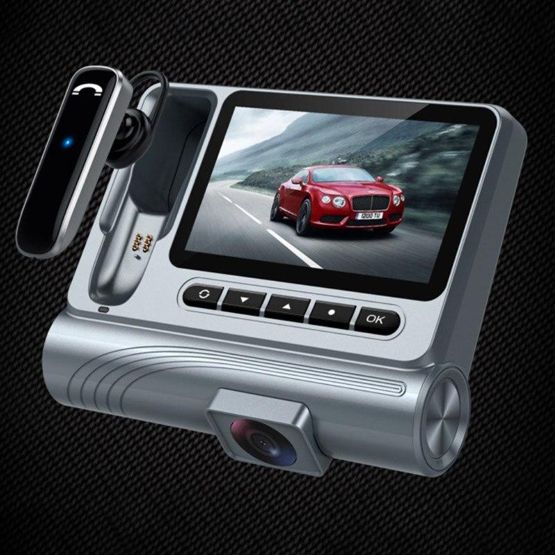 Nouveau véhicule d'affaires enregistreur voiture DVR caméra 1080 P avec casque Bluetooth séparé voiture mains libres Vision nocturne