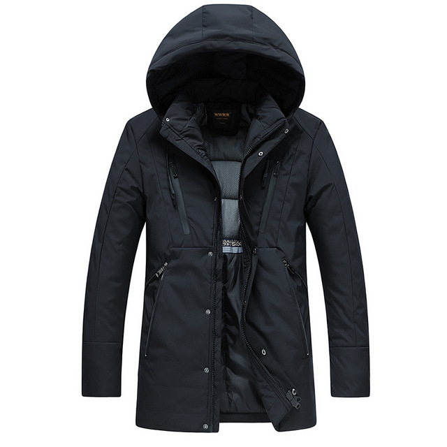 Cheap drop shipping 2018 men winter jackets long coat thick warm Parkas hooded outwear overcoat NXP22
