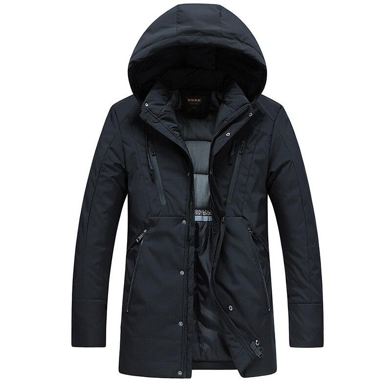 drop shipping 2018 men winter jackets long coat thick warm   Parkas   hooded outwear overcoat NXP22