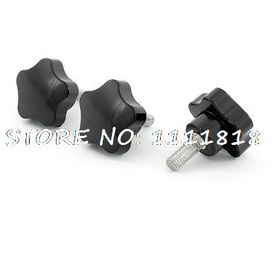 3 x Black M8 x 20 Thread 40mm Dia Bakelite Star Knob Handle for Machine Tool cross line laser the tool measuring laser leveler 5 lines 1 point 4v1h laser level