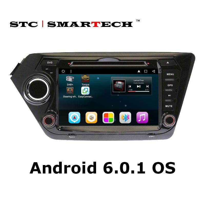 SMARTECH Car Multimedia DVD player for KIA K2 RIO 8 inch Android 6 0 1 Car