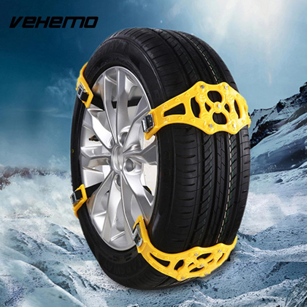 Vehemo 1 Pc Anti-Skid Chains Climbing Mud Ground Snow Chain Universal Snow Tire Belt Winter Driving Roadway Safety