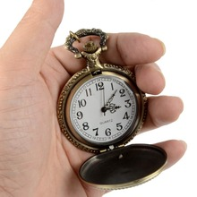 цены Retro Bronze Quartz Pocket Watch Steampunk Clock Watches with Marine Corps Necklace Watches Mens Christmas Gifts