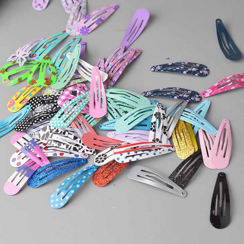 24 шт./партия, милые зажимы для волос для девочек с принтом, заколки для волос для детей, детские аксессуары для волос PC002
