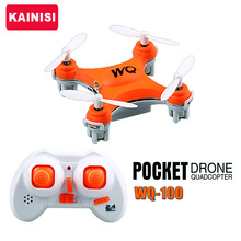 Free shipping 2 4G WQ 100 drone mini rc pocket drone quadcopter helicopter toy gift VS