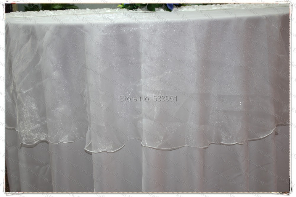 180cm Round No 13 White Color Organza Table Overlay Cover Tablecloth For Wedding Party Home Hotel Banquet Decorations In Tablecloths From