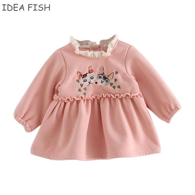 aa2e9224c IDEA de pescado bebé niñas 2019 ropa de otoño e invierno para niños niñas  vestido de