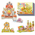 2016 New Hot sale Kids Educational Toys House Castle DIY 3D Jigsaw Puzzle For Children Adults 4 Models can choose for gift