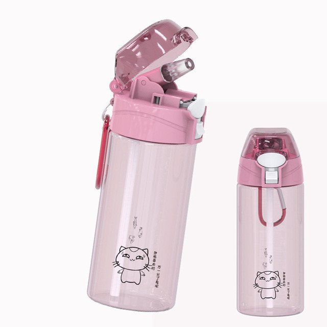 Portable Protein Shaker and Water Bottle With Straw For Camping and Hiking