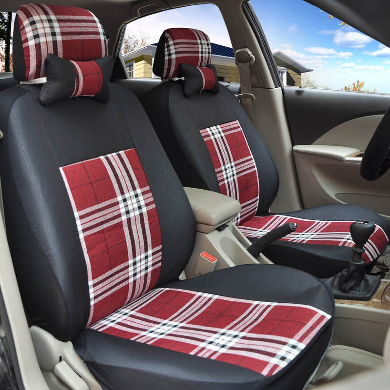 flax Universal car seat covers For Volkswagen vw passat b5 b6 b7 polo 4 5 6 7 golf tiguan jetta touareg car accessories styling universal pu leather car seat covers for toyota corolla camry rav4 auris prius yalis avensis suv auto accessories car sticks