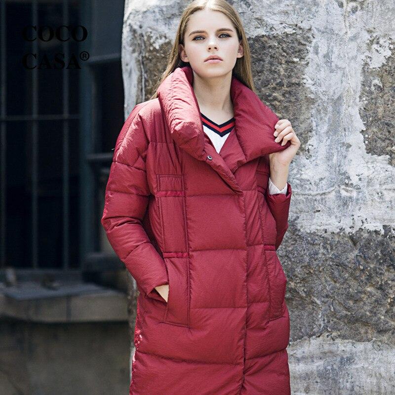 Nouvelle De Couleur Canard Multiples Col Robes gray 90Blanc Vestes Chaud Stand Femme red white Duvet Black D'hiver Poches Épaissir Solide Parka Mode Q332 hxBCtrsQd