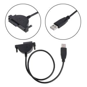 Image 3 - Yeni harici USB SATA 13Pin (7 + 6) dizüstü bilgisayar DVD CD ROM optik sürücü adaptör kablosu