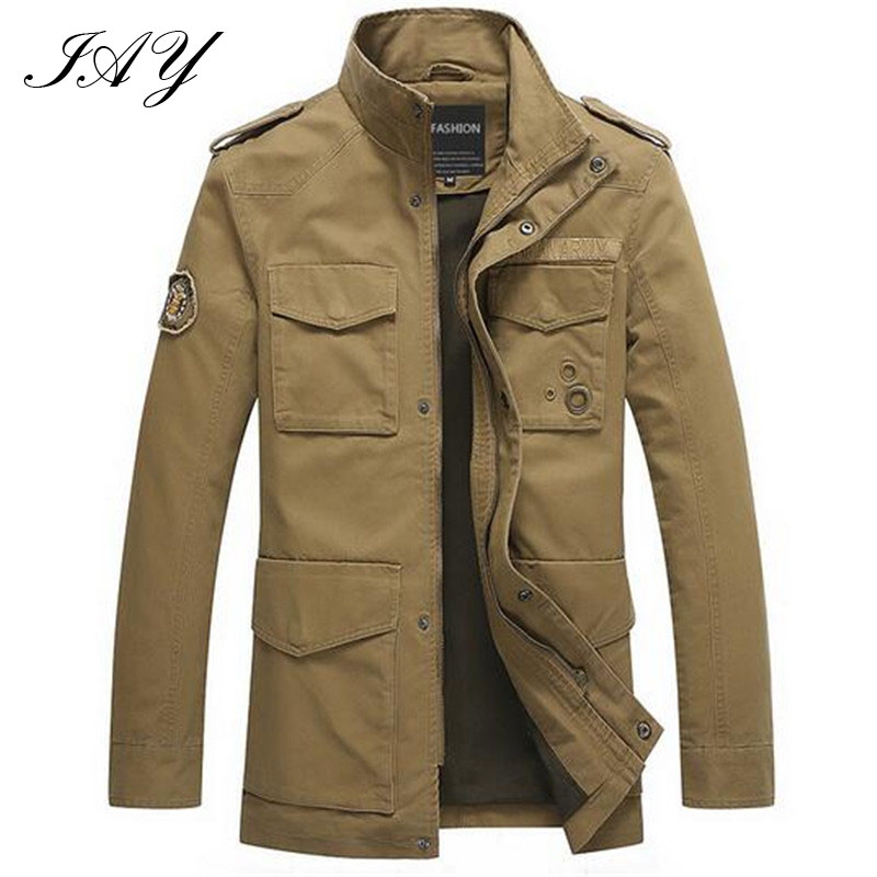Military German style men Jacket Thicken army green male Parka ...