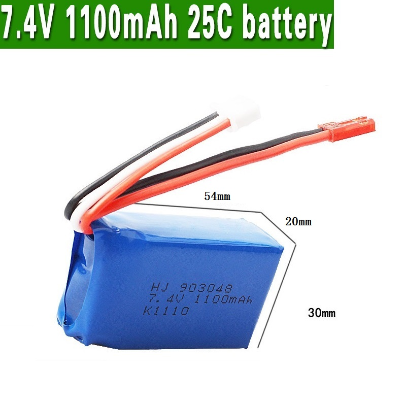 Image 5 - 3Pcs for Wltoys A949 A959 A969 A979 K929 LiPo Battery 7.4V 1100mah 903048 25c Lipo Battery For RC Helicopter Airplane Cars Boats-in Parts & Accessories from Toys & Hobbies
