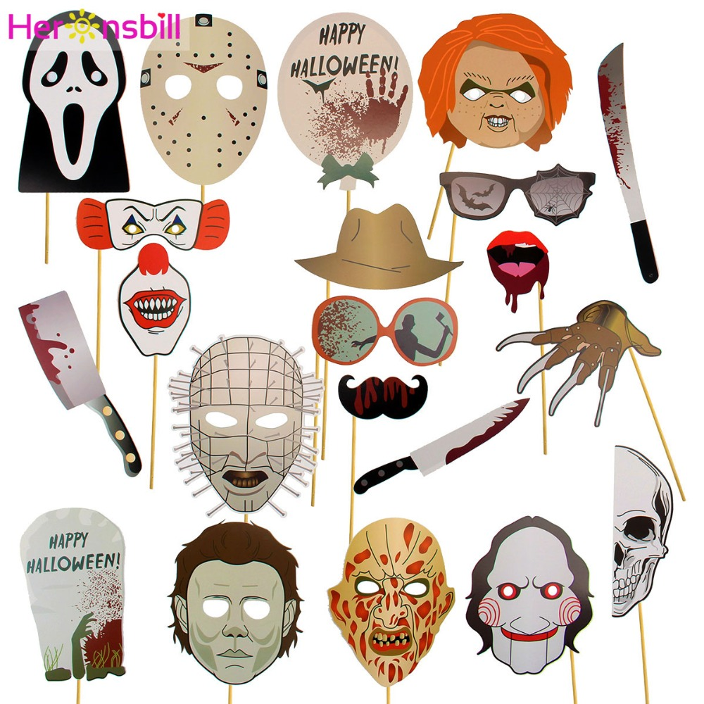 heronsbill halloween decoration photobooth horror scary skull