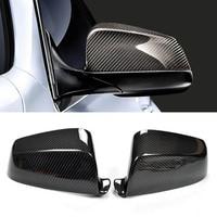 Nova fibra de carbono porta lateral do carro espelhos retrovisores replacment capa para bmw série 5 e60 2008-2010