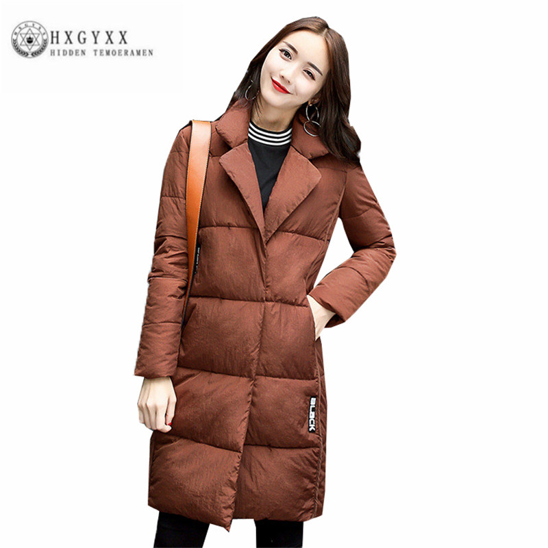 Mid-long Women Winter Cotton Coat Fashion Loose Thick Female Parka New Big yards Pure color Leisure Woman Wadded jacket ZX0240 women winter coat leisure big yards hooded fur collar jacket thick warm cotton parkas new style female students overcoat ok238