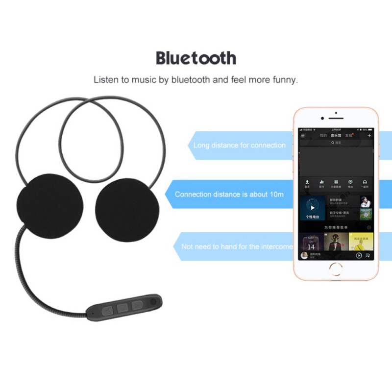 Headset Bluetooth Motorbike Handsfree Headset Headphone Motorcycle Helmet  For Music GPS Car Styling