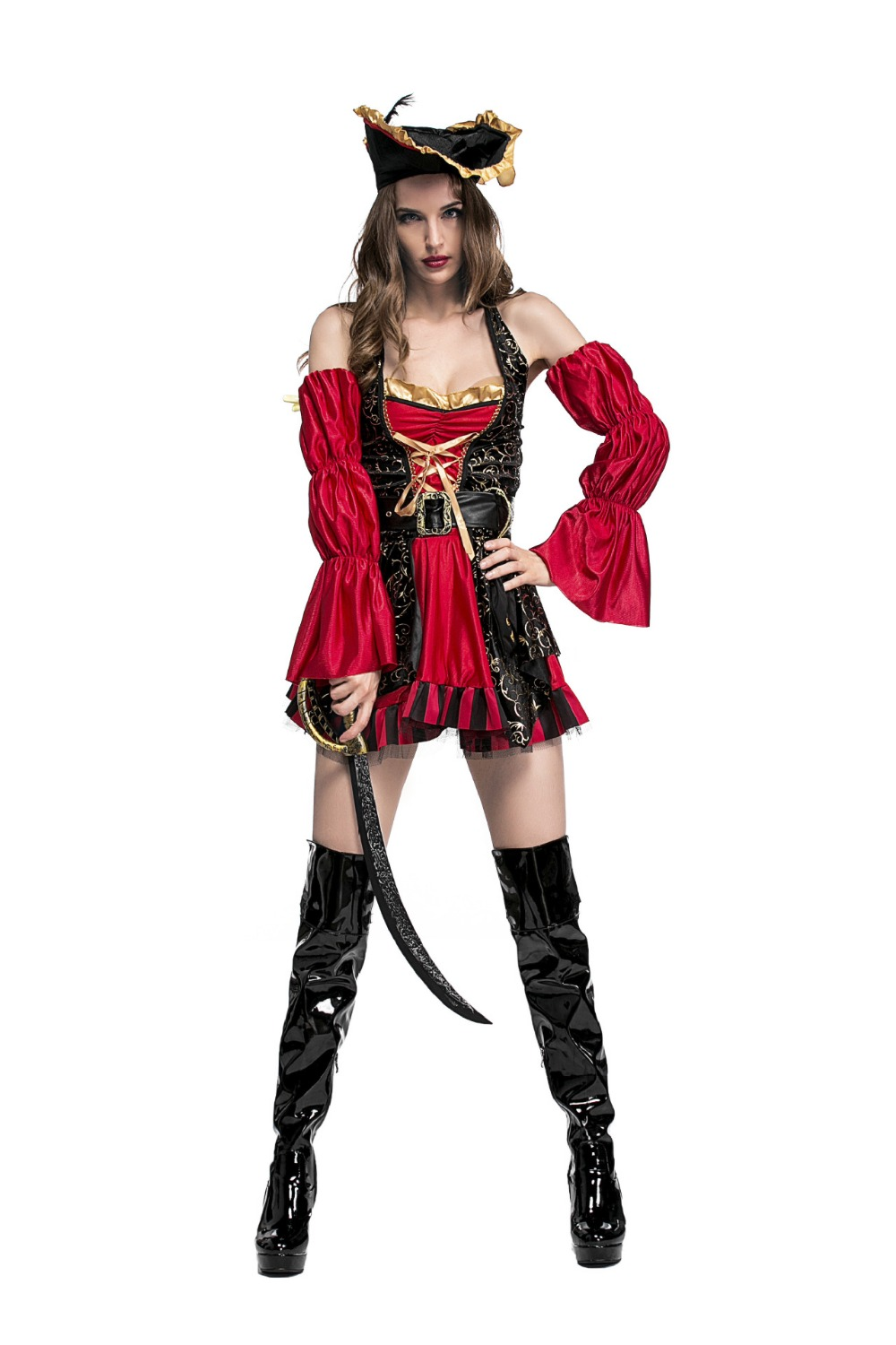 Sexy Ladies Pirate Fancy Dress Adult Halloween Costume Cosplay Skirts Party Outfits Cloth