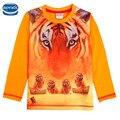 retail children boys clothes full sleeve spring autumn cotton printed tiger boy t-shirt 2016 nova kids baby boys clothes wear