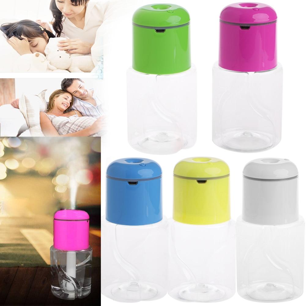 LED Light Mist Ultrasonic Make Air Humidifier Bottle Caps Aroma Diffuser Fogger