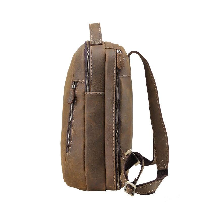 Aetoo新しいレトロマッド馬スキン男性ショルダーバッグパーソナライズ革レジャー旅行バッグバッグ  グループ上の スーツケース & バッグ からの バックパック の中 3