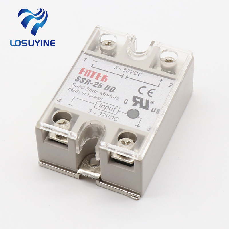 25DD SSR input 3~32VDC load 5~80VDC DC single phase DC solid state relay normally open single phase solid state relay ssr mgr 1 d48120 120a control dc ac 24 480v