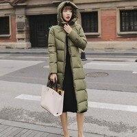 Winter White Grey Hooded Long Jacket Women Plus Size 6XL Thick Warm Casual Overcoat Cap Windbreaker Maxi Parkas Coat Jaqueta