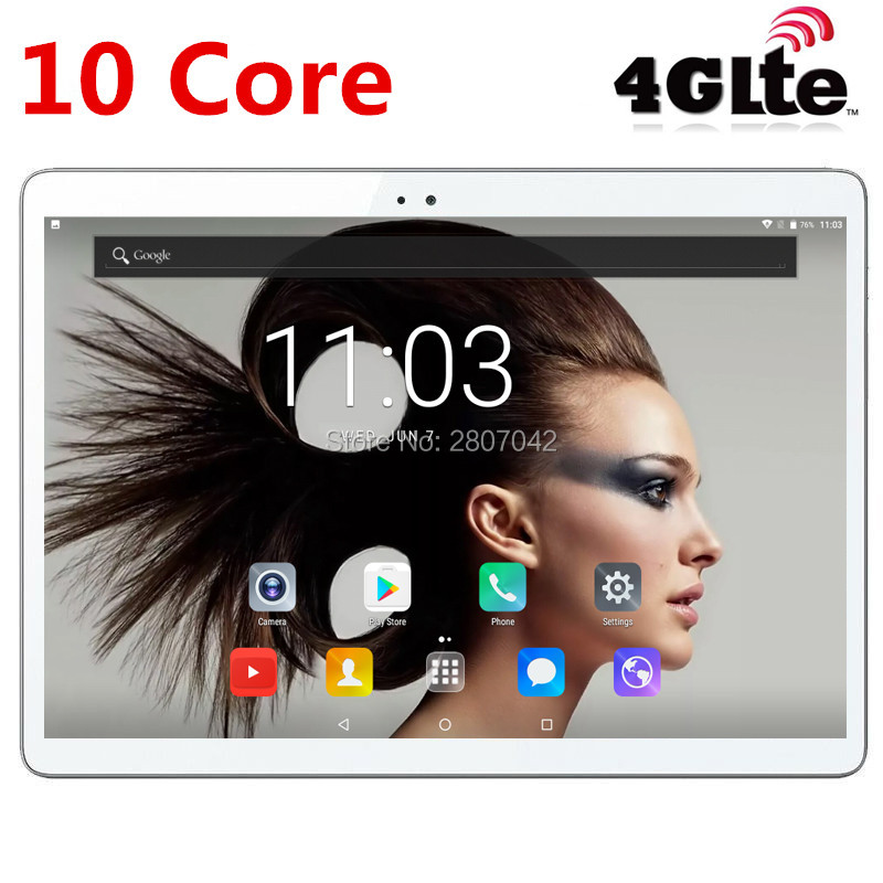 free shipping T100 Deca Core 10 Android 7 0 10 Tablet PC 4GB RAM 64GB ROM