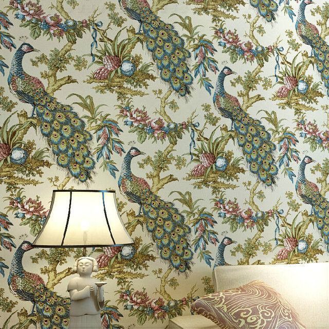 American Vintage Do The Old Apple Tree Flower Pattern Wallpaper Bedroom Living Room Background Pure Paper