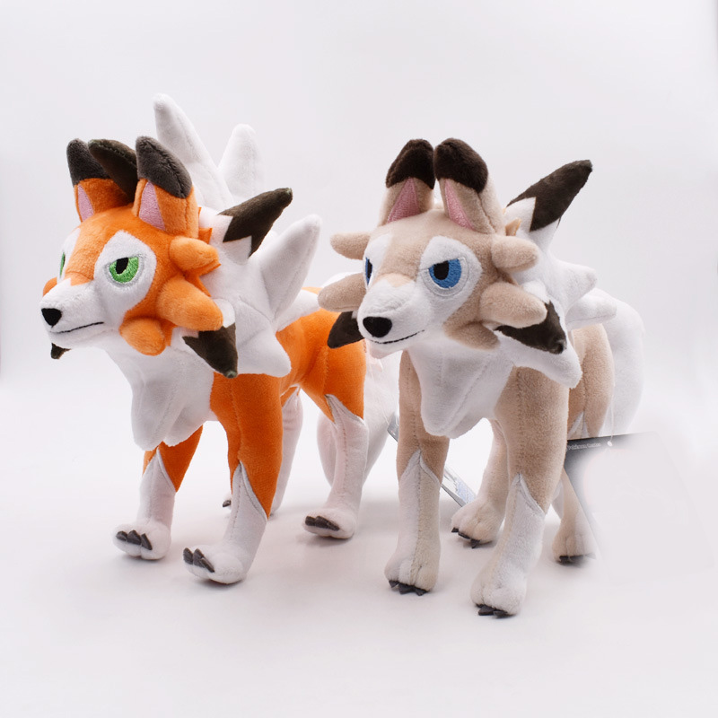 Lycanroc Animal Dolls 22CM Cute Plush Toys,Soft Doll Baby Toys Plush Toys Stuffed Doll High Quality Kids Gift kawaii puppy stuffed toys 10 20cm cute simulation husky dog plush toys stuffed doll kids baby toys plush husky dolls