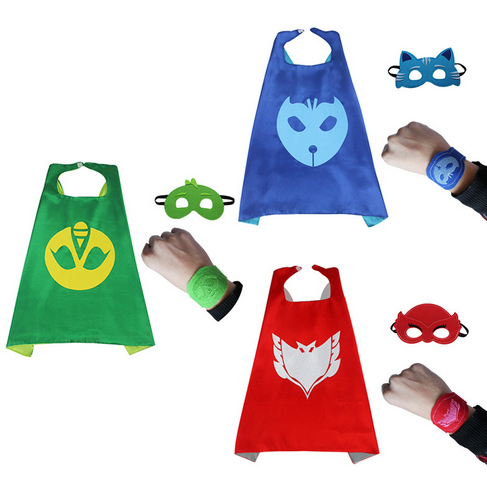 2017 New 3pcs/set PJ  Role-play cloak Cape and Mask Owlette Catboy Gecko Cosplay Action Toys For Children pretend and play doctor set little doctor kids baby toddler children junior doctor nurses medical set kit role play toy
