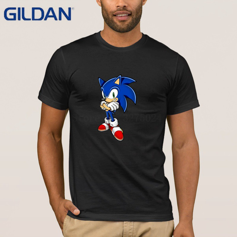 Gildan Customized New T Shirt For Men Sonic The Hedgehog T Shirt Men