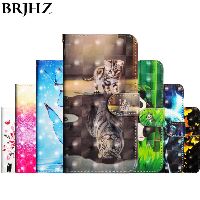 Flip Leather Case For Motorola Moto X4 2017 Case For coque Moto G5S G6 E5 E4 Plus Z3 Play Cover 3D panda Wallet Stand Phone Case in Flip Cases from Cellphones Telecommunications