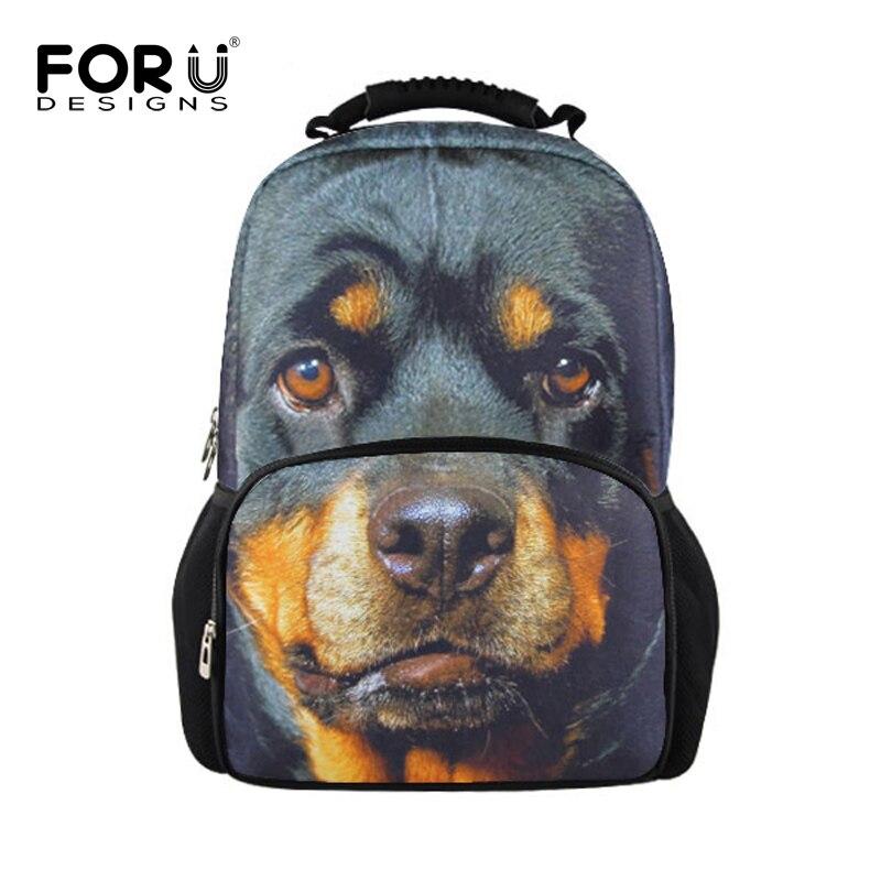 fd1e1bde1eddfc FORUDESIGNS Pies Zwierząt Wzór Mężczyźni Plecak Podróży Torby Na Ramię dla  Nastolatków Chłopców Podróży Plecak Torba Człowiek Dorywczo Torby Ruchsack