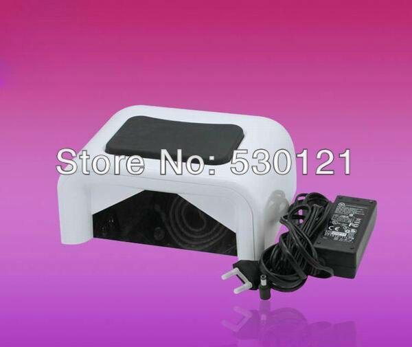 Free Shipping Genuine H3 60W 110v-240v White CCFL LED Nail Dryer with Timer, Sensor, Voltage Adapter цена и фото