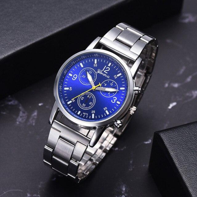 Fashion Men's Steel Belt Analog Sport Quartz Wrist Watch Top Brand Luxury Sports