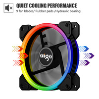 ir led darkFlash Aigo DR12 Computer Case Fan PC Cooling Fan Light RGB Adjust LED 120mm Quiet + IR Remote Cooler Fans CPU Gaming Case (2)
