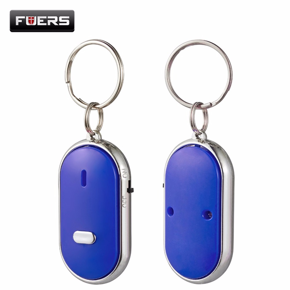 Fuers 2pcs/lot key whistle finder Sound Control LED Whistle Key Finder Locator Find Lost Keys KeyChain Lost Car Key Finder