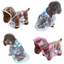 Dog Clothes Transparent Waterproof Raincoat Light Beautiful Small With Hood