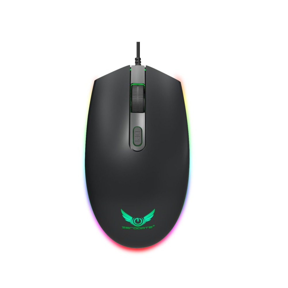 USB 6 Buttons 5000 DPI Wired Multi Color LED Optical Gaming Mouse for Computer PC Laptop